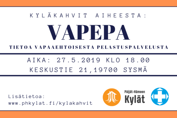 VAPEPA-ilta 27.5.2019 Sysmä