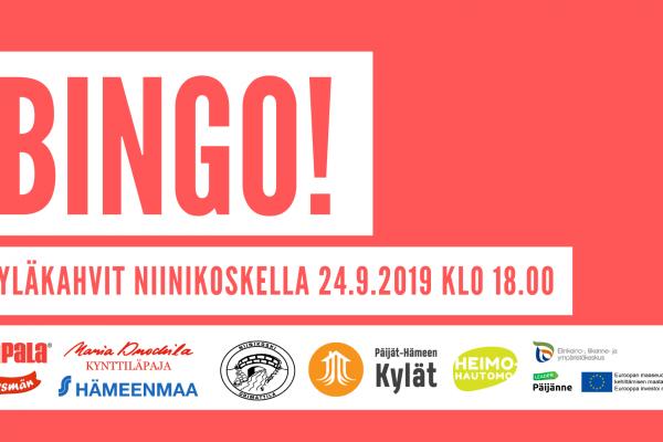 Kyläkahvit ja BINGO 24.9.2019 klo 18.00